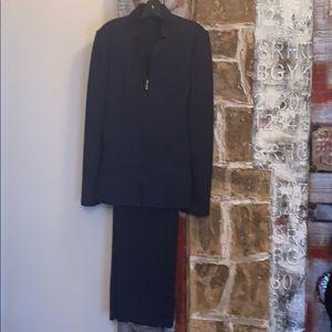 Navy Saint John Jacket and pants.
